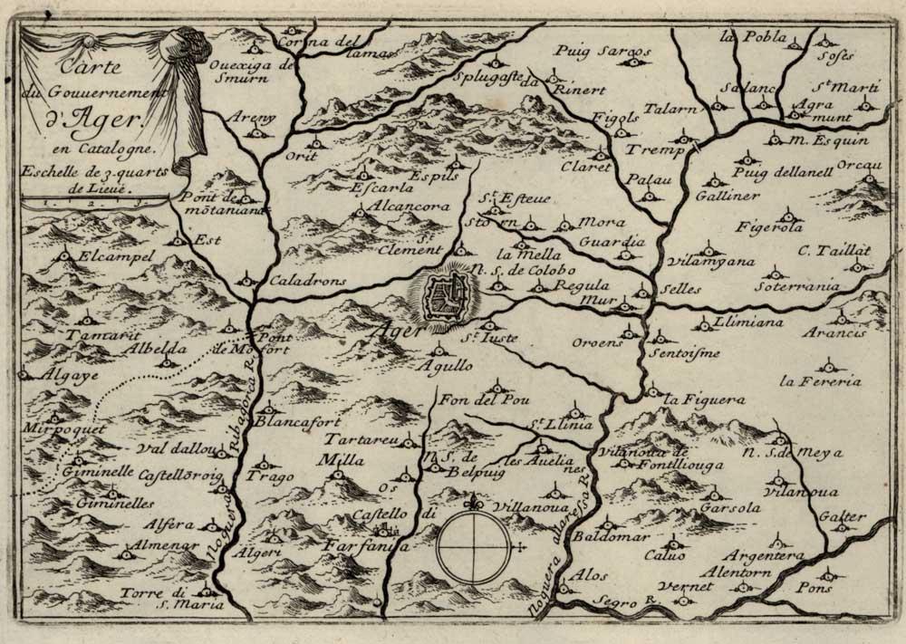 Vall d'Àger 1647 map