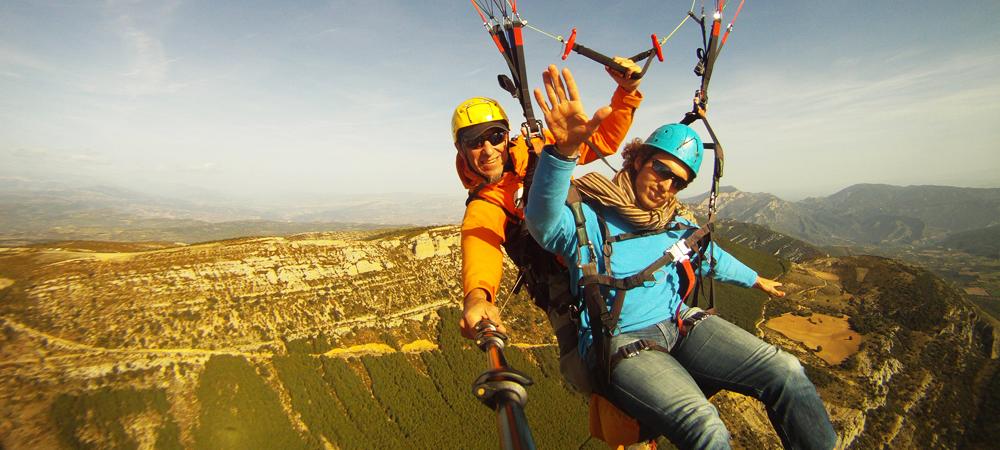 tandem paragliding barcelona